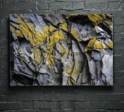 Wall Art Glass Print Canvas Picture Photo Stone Rock Rocky Wall P119681 Any Size