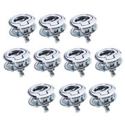 10pc 1.5 Round Flush Pull Slam Latches For Boat Deck Hatch Door-locking Style