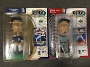 Derek Jeter Play Makers Upper Deck Bobbleheads Home And Away New York Lot Of 2