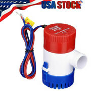12v 1100gph Electric Marine Submersible Bilge Sump Water Pump For Boat Yacht Us