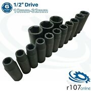 Blue Point 1/2 Deep Impact Sockets 10mm-32mm - As Sold By Snap On