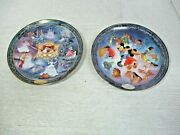 Bradford Exchange 2 Disney Plates - Once Upon A Kiss 15650d And Cinderella 1436a