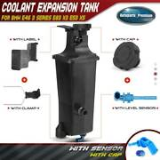 Radiator Coolant Overflow Expansion Tank Bottle Reservoir And Sensor And Cap For Bmw