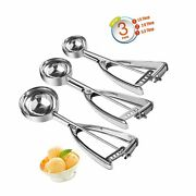 Cookie Scoop Ice Cream Scoop Set With Trigger 3 Pcs Cookie Scoops For Baking ...
