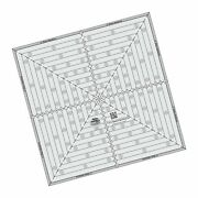 Quilting Template And Ruler 14.5 Inch Square It Up And Fussy Cut - Creative Gri...