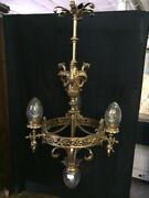 Important Liberty Chandelier With 4 Lights With Bohemian Crystals - Refurbished