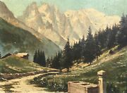 And039mont Blanc French Alpsand039 By Marcel Wibault Oil On Board Dated 1937