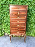 Louis Xv Chest Of Drawers In Rosewood - Restored In Progress