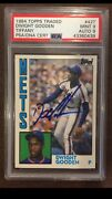 1984 Topps Traded Dwight Gooden Psa 9 Auto 9 Pop 2 None Higher