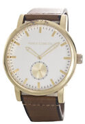 Vince Camuto Vc/1117svgp Menand039s Brown Leather Strap Rose Gold Watch