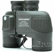 Uscamel 10x50 Binoculars Marine Compass For Adults Hunting Army Green Used