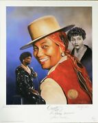 Pearl Bailey Christopher Paluso Lithograph Signed By 5 Musicians Jsa Authentic