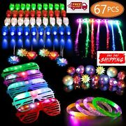 67 Pcs Led Light Up Toys Party Favors Glow In The Dark Party Supplies Kid/adults