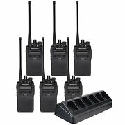 6 Pack Of Motorola Vx-261 Vhf Two Way Radios With 6 Radio Charger
