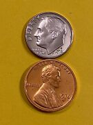 Dime 1978s Penny 1978s Proof Free Shipping