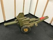 Vintage Cragstan Tin Litho Toy Howitzer Cannon Military Japan Works Toys Army Wo