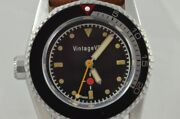 Vintage Vdb Automatic Menand039s Watch 1 13/16in Very Rare Single Piece