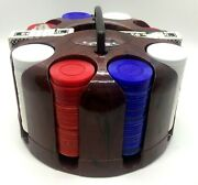 Sg Poker Carousel Caddy Resin Hoyle Chips Vintage 60's-70's Game