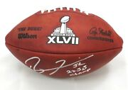 Ray Lewis Signed Sb Xlvii Official Game Football W/2x Sb Champ Ins Raven Bas Coa