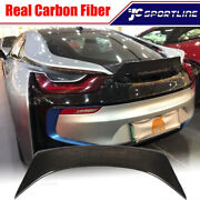 Fit For Bmw I8 Coupe 2014-2018 Rear Trunk Spoiler Boot Wing Real Carbon Fiber