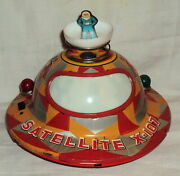 Vintage Space Satellite X 107 Tin Litho Battery Operated Japan Modern Toys