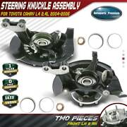 2x Wheel Bearing Hub Knuckle Assembly For Toyota Camry 04-06 Front Left And Right