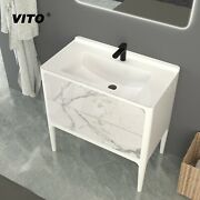32andrdquo Italian Solid Surface And Sintered Stone Vanity Base For Bathroom