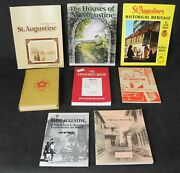 St. Augustine Florida History Library - 8 Vol Set - Pictorial History - Houses +