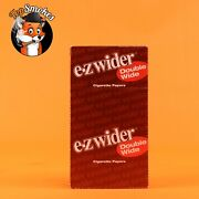 Ez-wider Double Wide Cigarette Rolling Papers 24 Booklets 1 Box Free Shipping