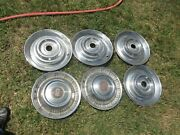 Vintage 55 56 57 Used Hubcaps Buick On Two, Four Unmarked, 15 Inch, Nice