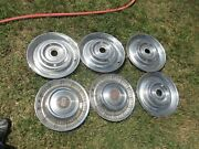 Vintage 55 56 57 Used Hubcaps Buick On Two Four Unmarked 15 Inch Nice