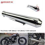 Steel Motorcycle Shorty Exhaust Muffler Pipe For 1 5/8 1 1/21 7/16 Cafe Racer
