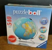 Ravensburger Globe Puzzle Ball With Stand 540 Piece 3d Jigsaw Puzzle Made In Usa