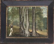 Pair Antique Naive English School Oil On Panel Game Shooting C.1830. Framed.