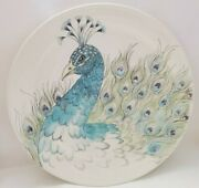 Edie Rose Home Peacock Collection Set Of 2 Plates