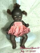 Antique 1930and039s Signed Japan African American Double Jointed Bisque 6and039and039 Doll