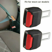 Pair Car Safety Seat Belt Buckle Extension Extender Clip Alarm Stopper Universal