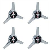 2005-2014 Mustang Gt Or V6 Wheel Center Cap Spinners Pony And Tribar - Set Of 4