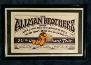 Allman Brothers 20th Anniv. Poster 1st Printing Signed By Berry And Artist