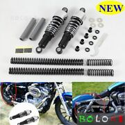 Chrome Front Rear Shock Absorbers Lowering Kit For For Harley Touring 1984-2013