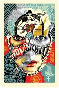 ❇️new❇️ Sandra Chevrier Shepard Fairey Beauty Of Liberty And Equality Print Obey