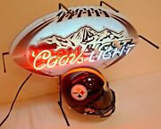 Coors Light Neon Sign Nfl Football Pittsburgh Steelers Man Cave Bar Distributor
