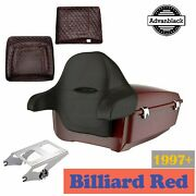 Billiard Red King Tour Pack Pak For Harley Street Electra Road Glide 1997+