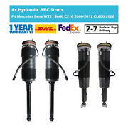 4x Front Rear Hydraulic Abc Suspension Struts Fit For Benz W221 S600 C216 Cl600