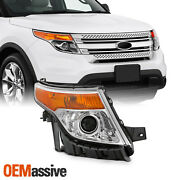 Fits 2011-2015 Ford Explorer Chrome Right Pasenger One Side Projector Headlight