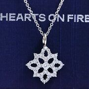 Hearts On Fire Dream Cut Diamond Mythical Necklace 0.59 Tcw 16and039 18k White Gold