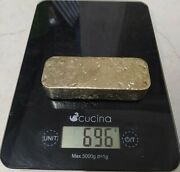 696 Grams Scrap Gold Bar For Gold Recovery Melted Different Computer Coin Pins