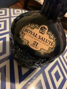 Chivas Regal Royale Salute 21 Years Old Scotch Whisky Porcelain Bottle With Box