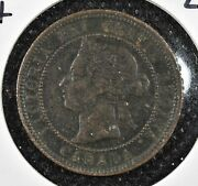 1891 Canada Cent Large Leaves Small Date Llsd Xf