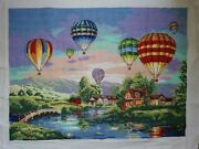 Balloon Glow Cross Stitch Picture Large Size